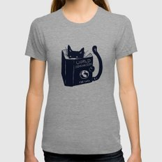 World Domination For Cats Tri-Grey LARGE Womens Fitted Tee