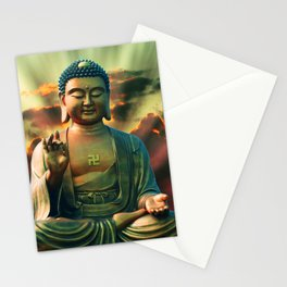 Buddha Sunrise Spiritual Zen Meditation Yoga Mantra Indian Stationery Cards