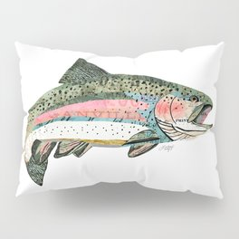 Rainbow Trout Collage Pillow Sham