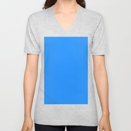 Dodger blue Unisex V-Neck