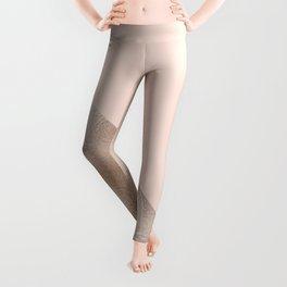Blush and taupe shine Leggings