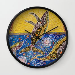 THE WHALES JOURNEY THE AWAKENING  Wall Clock