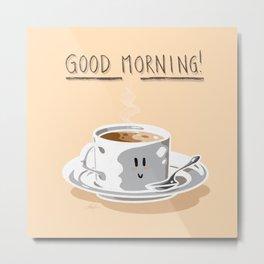Good Morning! (Peach Puff) Metal Print