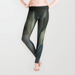 GRUBBY GREY ANTIQUE AGAVE CACTUS PIC Leggings