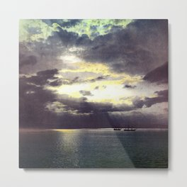 Vintage Sunset Waters : St Lawrence River 1901 Metal Print