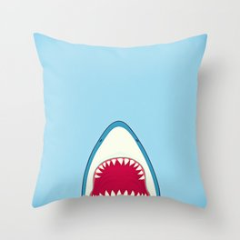 Straight Outa Water Shark Print Throw Pillow