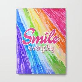 Smile Everyday, Crayon Colors, Kids Crayon, color splash, Metal Print