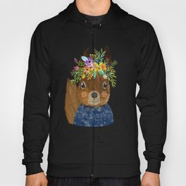 Squirrel with floral crown Hoody