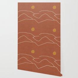 Minimal Abstract Art Landscape 2 Wallpaper