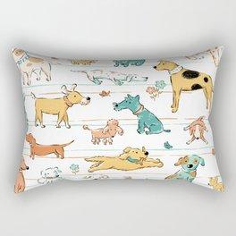 Dogs Dogs Dogs Rectangular Pillow