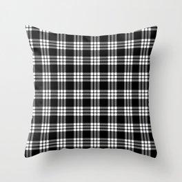 MacFarlane Black + White Tartan Modern Throw Pillow