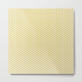 Yellow Lemon Citrus slices on White Metal Print