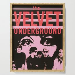 1968 Velvet Underground Concert Gig Vintage Advertising Poster Serving Tray