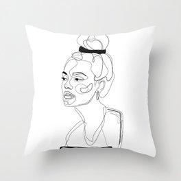 B&W Sketch Throw Pillow