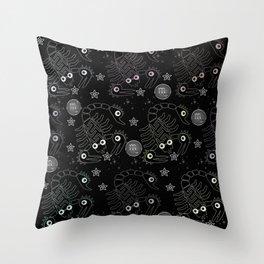 Scopions pattern Throw Pillow