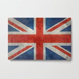 "UK British Union Jack flag ""Bright"" retro Metal Print"
