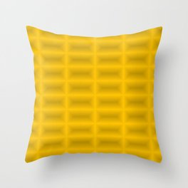 Strict convex rectangles of yellow tiles with shiny edges. Throw Pillow