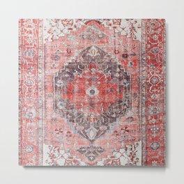 Vintage Anthropologie Farmhouse Traditional Boho Moroccan Style Texture Metal Print