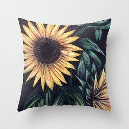 Sunflower Life Throw Pillow