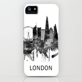 London England Skyline BW iPhone Case