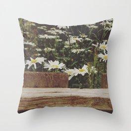 Fenced white Throw Pillow