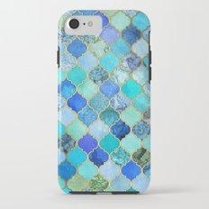 Cobalt Blue, Aqua & Gold Decorative Moroccan Tile Pattern iPhone 7 Tough Case