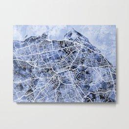 Edinburgh City Street Map Metal Print