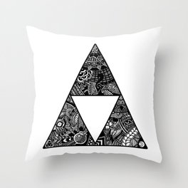 Triforce Zentangle Throw Pillow