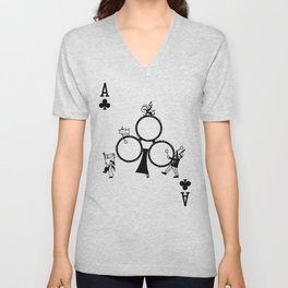 Sawdust Deck: The Ace of Clubs Unisex V-Neck