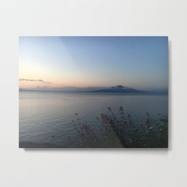 Sorrento Coast at Sunset Metal Print