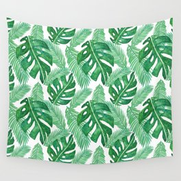 Tropical Leaf Pattern Wall Tapestry