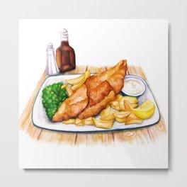 Fish & Chips Metal Print