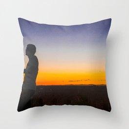 Sunset on a Hill 2 Throw Pillow