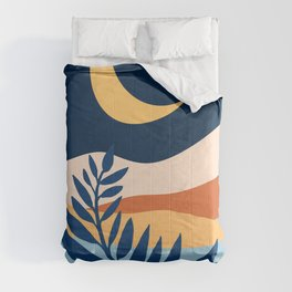 Moon + Night Bloomer / Mountain Landscape Comforters