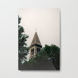Church Within The Trees Metal Print