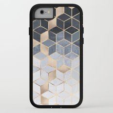 Soft Blue Gradient Cubes iPhone 7 Adventure Case