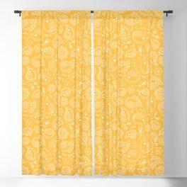 Hedgehog Paisley_Yellow Blackout Curtain