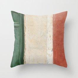 Italian Street Wall Throw Pillow