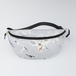 Animal Map of the world Fanny Pack