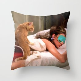 Audrey Hepburn #4 @ Breakfast at Tiffany's Throw Pillow