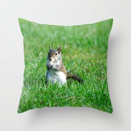 Sweet Snacking Squirrel Throw Pillow