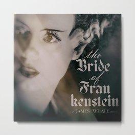 The Bride of Frankenstein, vintage movie poster, Boris Karloff cult horror Metal Print