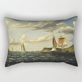 Thomas Chambers - Staten Island and the Narrows Rectangular Pillow