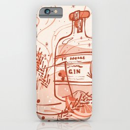 Gin Cocktail Retro Poster iPhone Case