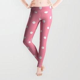 Light Pink Polka Dots Leggings
