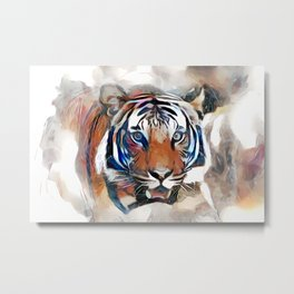 Tiger, the God of the Mountain Metal Print