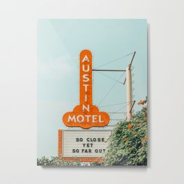 Austin Motel Sign, South Congress, Austin, Texas Metal Print