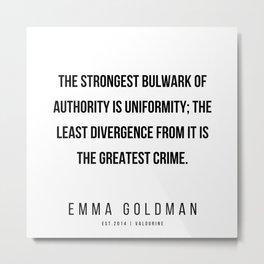 17      Emma Goldman Quotes   200602 Metal Print