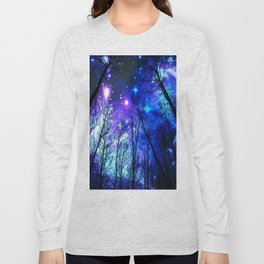 black trees purple blue space copyright protected Long Sleeve T-shirt