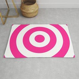 Target (Dark Pink & White Pattern) Rug